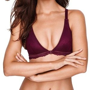 Victoria's Secret Triangle Bralette Velvet Trim